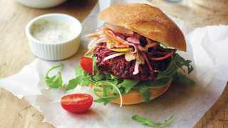 Beetroot burger. Picture: Supplied