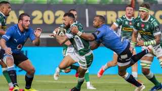 Benetton's Jayden Hayward goes on the run against the Bulls. Picture: Alfio Guarise/LiveMedia/Shutterstock via Backpagepix