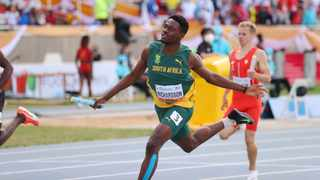 Benjamin Richardson has commended his team mates for their individual brilliance in their world record performance. Photo: @WorldAthletics via Twitter