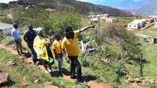 Bheki Cele criss-crossed Makhabeleni village near Kranskop in KwaZulu-Natal where he and other ANC volunteers conducted a door-to-door visit on Tuesday. Photo: Doctor Ngcobo/Africannewsagency(ANA)