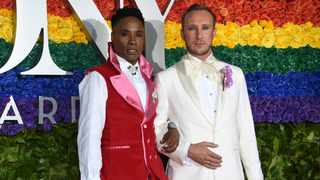 Billy Porter, left, and Adam Smith arrive at the 73rd annual Tony Awards at Radio City Music Hall on Sunday, June 9, 2019, in New York. Picture: Evan Agostini/Invision/AP
