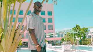 Black Coffee chills at The Goodtime in Miami. Picture: Twitter.