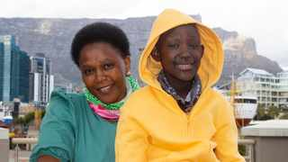 Blood disorder survivor Luthando Sibiya and is mom Lindiwe. Picture: Supplied.