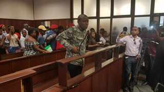 Bonginkosi Khanyile the EFF student leader who led a violent #FeesMustFall protest in Durban two years ago was on Monday slapped with a R5 000 fine and placed under correctional supervision for his part in the protest. Photo Mphathi Nxumalo