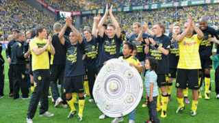 Borussia Dortmund were crowned Bundesliga champions on Saturday with a 2-0 win at home against Nuremberg to land their first German  league title since 2002.