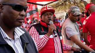 Botswana President Mokgweetsi Masisi, centre, addresses a rally in his hometown of Moshupa, Botswana, some 45kms (30 miles) west of Gaborone. Botswana's ruling party the BDP (Botswana Democratic Party) faces the tightest election of its history on Wednesday. Picture: Jerome Delay/AP