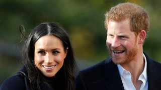 Britain's Prince Harry and Meghan Markle, Duchess of Sussex, arrive at Nottingham Academy in Nottingham, England. Picture: AP Photo/Frank Augstein, File