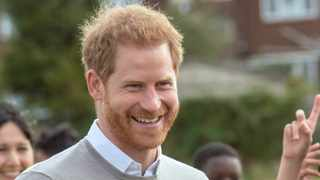 Britain's Prince Harry smiles during a visit the Rugby Football Union All Schools Programme at Lealands High School in Luton, England, Thursday, Sept. 12, 2019. Picture: AP