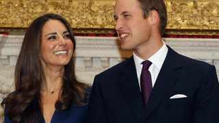 Britain's Prince William and his fiancee Kate Middleton St James's Palace in London after they announced their engagement.