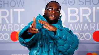 Burna Boy was one of the best dressed at the Brits 2020. Picture: Instagram.