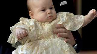 CAPTIVATING: The official christening photo of Prince George.