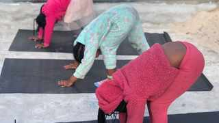 CHILDREN in Harare enjoy yoga outdoors. Picture: Supplied.