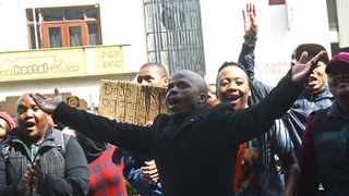 CPUT students lend support to their leaders outside the Labour Court in Cape Town. Picture: COURTNEY AFRICA/ANA