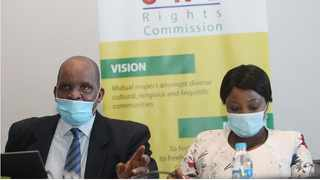 CRL Rights Commission chairperson Luka Mosoma and deputy Sylvia Pheto at the commission into the allegations levelled against management at the KwaSizabantu Mission in KZN. Picture: Doctor Ngcobo/African News Agency(ANA)