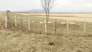 CROSSES placed at the entrance to Glen and Vida Rafferty's farm in Normandie, KwaZulu-Natal. Picture: Chess Security Services