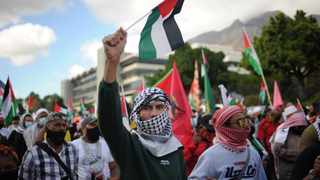 Calls for the downgrading or closure of the Embassy of Israel and to implement a boycott, divestment and sanctions against Israel were cheered during a protest in solidarity with the people of Palestine. Picture: Henk Kruger/African News Agency