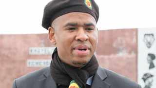 Cape Town-03-08-2012 Loyiso Nkohla the general secretary of the ANCYL Western Cape at the Khayelitsha Court where he was supporting Luvuyo Hebe at the Khayelitsha Court.pic Phando Jikelo reporter Tshego Lepule