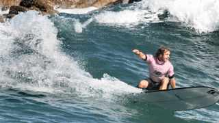 Cape Town 06-05-12 -Justin Bing past South African Champion , from Western Province on his way to winning the open mens division of the South African long board championships being held at Victoria Bay - Western Procvince won 6 of the divisions and won the Presidents trophy Picture Brenton Geach
