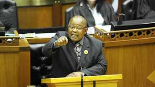 Cape Town. 111122. Lekota. Members of the opposition parties speak out against the Bill. Parlimentary vote in the National Assembly on the Secrecy Bill. Photo by Michael Walker