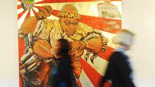 Cape Town 120827 The new Zuma painting in Cape Town Photo by Michael Walker