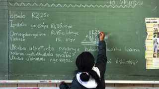 Cape Town 130911- Liyema Katsi is doing a Xhosa exercise. Leiden Avenue Primary in Delft offers IsiXhosa as one of the languages at the school. Picture Cindy waxa.Reporter Ilse/Argus
