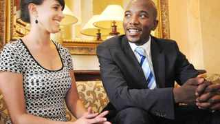 Cape Town - 140520 - Mmusi Maimane and his wife Natalie speak to the Cape Argus at their hotel before the swearing in of new members of parliament and the first sitting of the new parliament. Reporter: Murray Williams Picture: David Ritchie (083 652 4951)