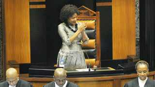 Cape Town-140521-Swearing in of ministers in Parliament. In pic the new speaker of the house, Baleka Mbete is ellected-Photographer-Tracey Adams