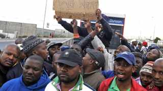 Cape Town 141030 Myciti bus drivers in Dunoon are still on strike since yesterday. They want 15.000 increase and if their demands are not met they will make myciti ungovernable. Picture Cindy waxa.Reporter Natasha B