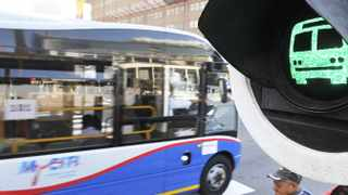 Cape Town. 150203. Myciti buses leaving Cape Town depot out of Cape Town. Pic COURTNEY AFRICA
