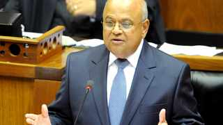 Cape Town. 220212. Finance Minister Pravin Gordhan delivers his annual budget speech in parliament. Picture Leon Lestrade