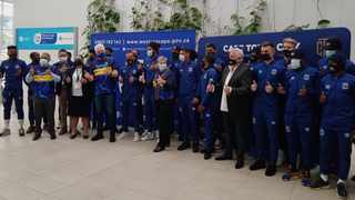 Cape Town City Football Club received their Covid-19 vaccine at the CTICC Vaccination Centre of Hope on Friday. Picture: Shakirah Thebus/Cape Argus