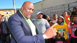 Cape Town – Gayton McKenzie, leader of the Patriotic Alliance, promises to demolish the Cape Town stadium and build houses. Picture Henk Kruger