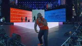 Cassper Nyovest during rehearsals ahead of the Fill Up FNB Concert.