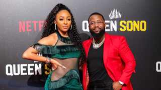 Cassper Nyovest with Nadia Nakai at the 'Queen Sono' premiere in 2020. Picture: Instagram