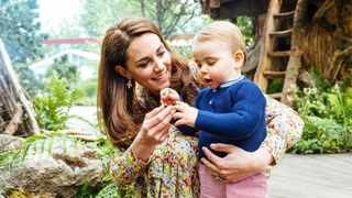 Catherine, Duchess of Cambridge and her son, Prince Louis, at RHS Chelsea Flower Show in London. Photo: Reuters