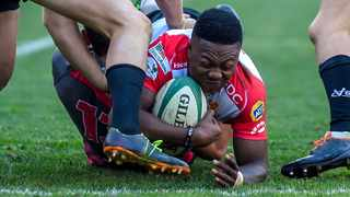Centre Wandisile Simelane failed to make the Lions team for their first two matches this season. Photo: Christiaan Kotze/BackpagePix