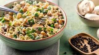 Chicken and mushroom Maggi noodles. Picture: Supplied