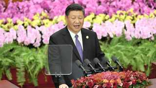 Chinese President Xi Jinping speaks during the opening ceremony of the Forum on China-Africa Co-operation at the Great Hall of the People in Beijing. Picture: Madoka Ikegami/Reuters