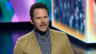 Chris Pratt accepts the award for favourite butt-kicker for 'Jurassic World: Fallen Kingdom' at the Nickelodeon Kids' Choice Awards on Saturday, March 23, 2019, at the Galen Center in Los Angeles. Picture: Chris Pizzello/Invision/AP