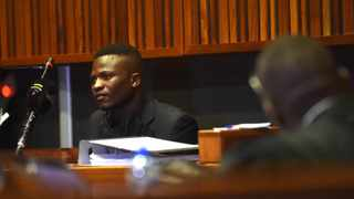 Constable Mandla Sithole testifies during the Eldorado Park teenager Nathaniel Julies murder trial. Picture: Itumeleng English/African News Agency (ANA)