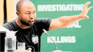 Corruption whistle-blower Thabiso Zulu during the Moerane Commission. Picture: Sibonelo Ngcobo