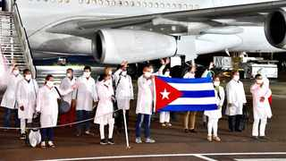 Cuban Health Specialists arrive in South Africa to support efforts to curb the spread of COVID-19. Picture: Elmond Jiyane/GCIS