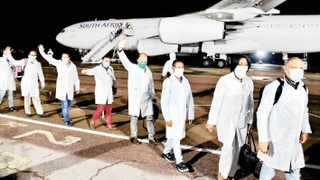 Cuban doctors arrive in South Africa to help in the fight against the Covid-19 pandemic. Picture: GCIS