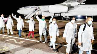 Cuban health specialists arrive in South Africa to support efforts to curb the spread of Covid-19. Picture: GCIS