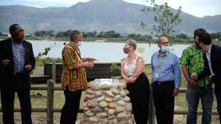 Cultural Affairs and Sport MEC Anroux Marais officially unveiled the Provincial Heritage site plaque at Princess Vlei off the M5 in Retreat. Picture: Ayanda Ndamane/African News Agency