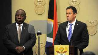 DA leader John Steenhuisen with President Cyril Ramaphosa. Picture: Armand Hough African News Agency (ANA)