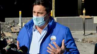 DA national leader John Steenhuisen visited Inanda yesterday to asses the last month's unrest damage. I Tumi Pakkies/African News Agency(ANA)
