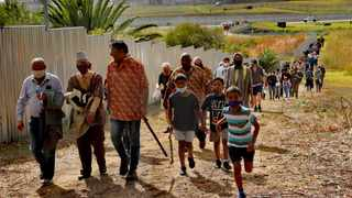 DR ALAN Boesak and Imam Dr Rashied Omar leading the March from Oude Molen to Observatory, to reinstate a Heritage plaque. Picture: Anwar Omar