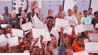 Dalcha Lungiambula received lots of love and support from the kids in Vredendal. Photo: supplied