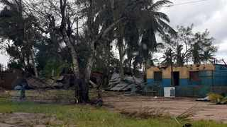 Damaged buildings are seen after Cyclone Kenneth made landfall in Pemba, Mozambique. Picture: Neidi de Car valho/UNICEF via AP